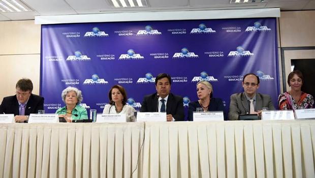 Coletiva de imprensa no MEC | Foto: reprodução