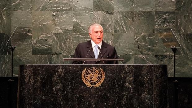 Temer defende maior abertura do Brasil ao mundo em discurso na ONU