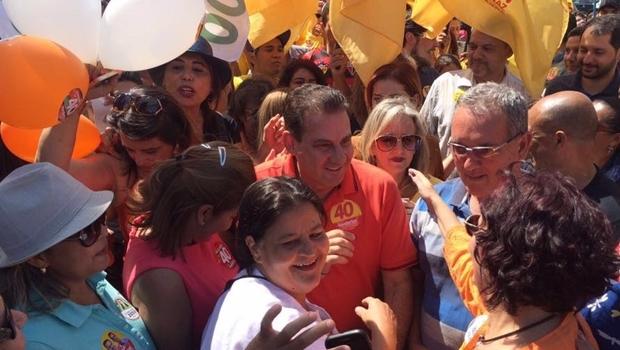 Candidato do PSB durante campanha   Foto: reprodução