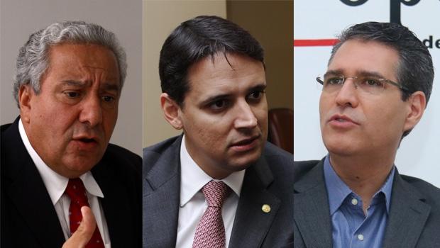 Vilmar Rocha, Thiago Peixoto e Francisco Júnior: no comando de um partido mais forte do que o PP