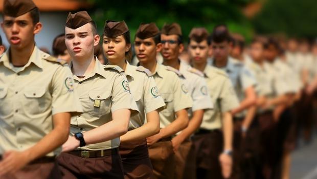 Alunos do colégio militar | Foto: Wildes Barbosa