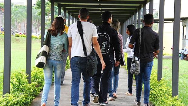 Pensamento de direita vem ganhando espaço também nas universidades, local em que essa existência não era tão perceptível | Fernando Leite/Jornal Opção