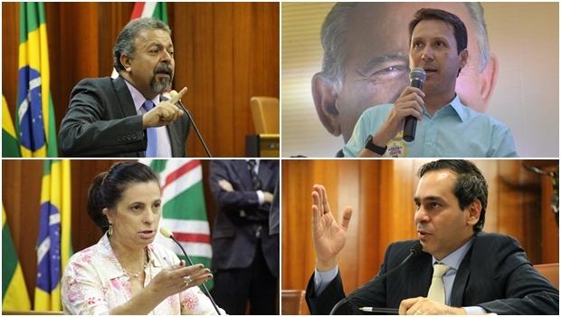 Elias Vaz, Andrey Azeredo, Dra. Cristina e Wellington Peixoto | Fotos: Câmara Municipal e reprodução