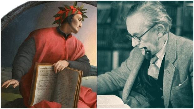 Dante Alighieri (retratado acima) e J.R.R. Tolkien: o primeiro foi resonsável pela quebra de uma tradição; o segundo, pela retomada. Por isso, é possível achar pontos em comum na obra dos dois autores   Fotos: Pintura de Agnolo Bronzino e LA Times