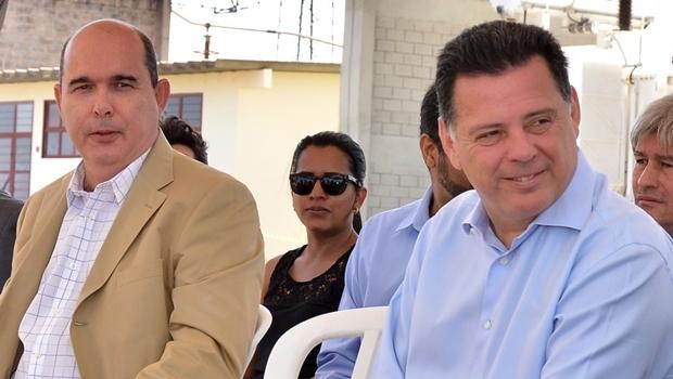 Fernando Navarrete e o governador | Foto:  Eduardo Ferreira