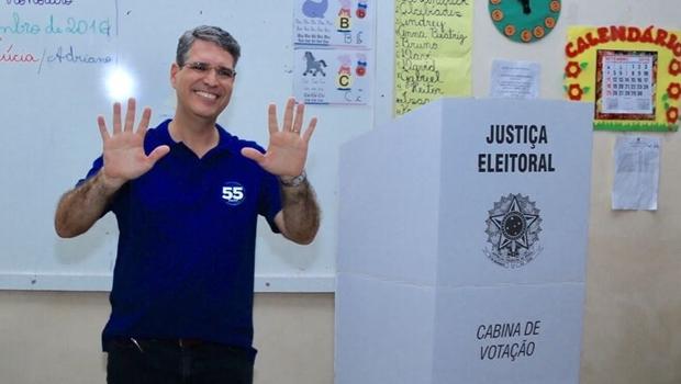 Candidato do PSD após votar | Foto: Reprodução