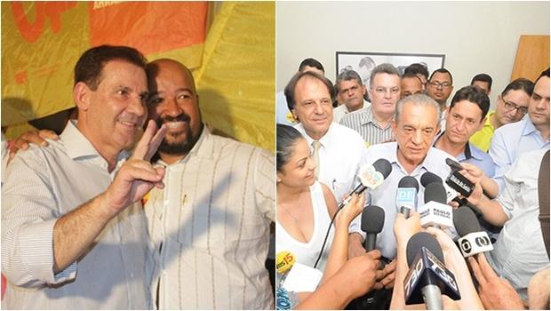 Vanderlan Cardoso no corpo a corpo na penúltima semana antes do pleito | Iris Rezende em entrevista coletiva nos últimos dias de campanha