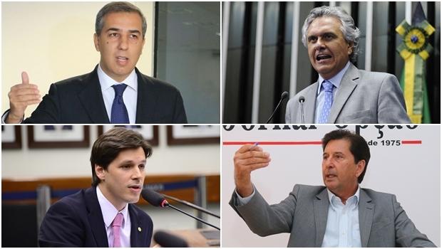 José Eliton, Ronaldo Caiado, Daniel Vilela e Maguito Vilela