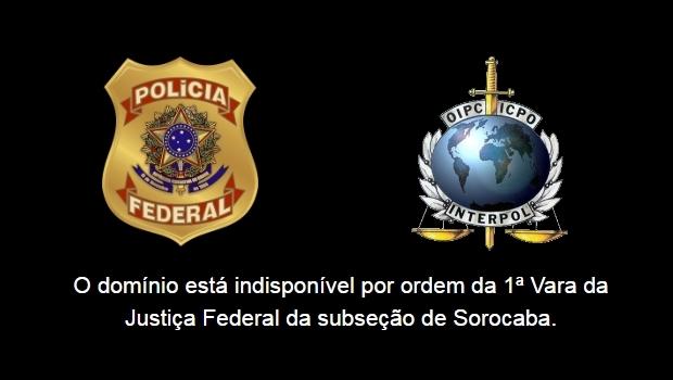 Domínios de sites estão sob custódia da Polícia Federal (Foto: Reprodução/Armagedomfilmes.biz )