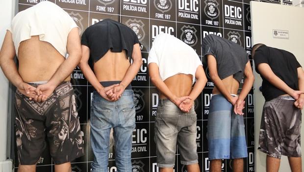 Suspeitos foram presos em ação na última quinta-feira (27)   Foto: Jota Eurípedes