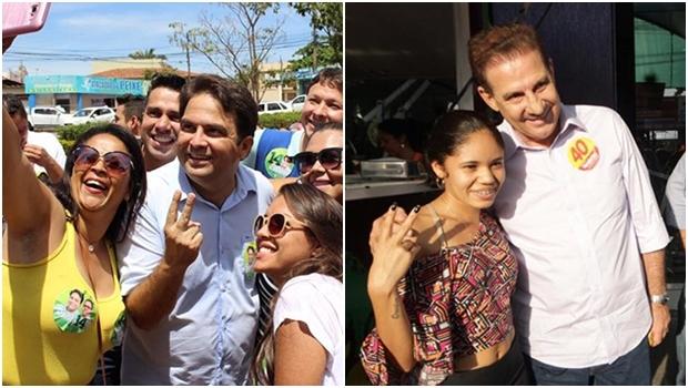 Robert do Órion, em Anápolis: começou bem atrás e chegou ao 2º turno; Vanderlan Cardoso, em Goiânia, terminou o 1º turno em viés de crescimento   Fotos: Facebook
