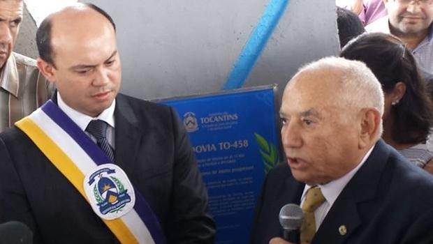 Sandoval Cardoso e Siqueira Campos durante entrega em 2014   Foto: governo do Tocantins