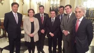 Maguito Vilela, Ada Colau, Carlos Amastha e outros prefeitos de cidades brasileiras: giro pela Espanha | Foto: Divulgação