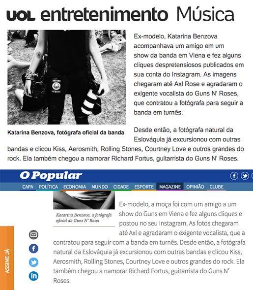 Repórter de O Popular copia trechos de reportagens do G1 e do UOL em texto sobre o Guns N' Rose