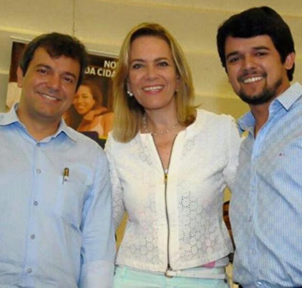 Vinicius Luz, prefeito eleito de Jataí, Lêda Borges, secretária de Cidadania e Trabalho, e Thiago Maggioni, vereador   Foto: Facebook de Thiago Maggioni