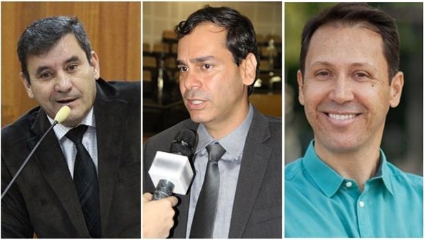 Clécio Alves, Wellignton Peixoto e Andrey Azeredo : os três nomes do PMDB para a presidência da Câmara Municipal| Arquivo