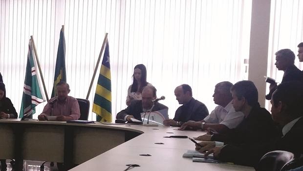 Audiência pública na Câmara Municipal para discutir novas regras de outdoors e painéis de LED em Goiânia   Foto: Câmara Municipal