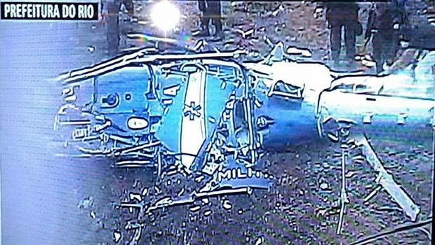 Queda de helicóptero matou quatro policiais militares | Foto: Reprodução