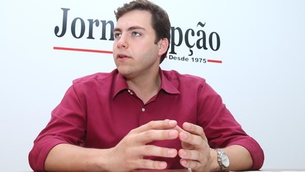 Vereador eleito durante entrevista ao Jornal Opção: será oposição responsável | Foto: Fernando Leite/ Jornal Opção