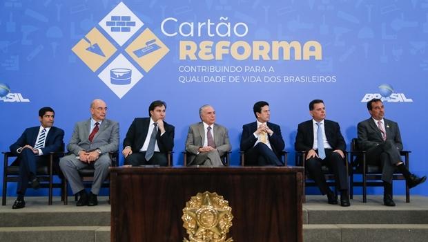 Presidente Michel Temer durante cerimônia de lançamento do Cartão Reforma | Foto: Beto Barata/PR