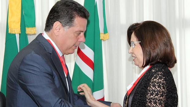Ministra Laurita Vaz é homenageada e Marconi ressalta conquistas das mulheres