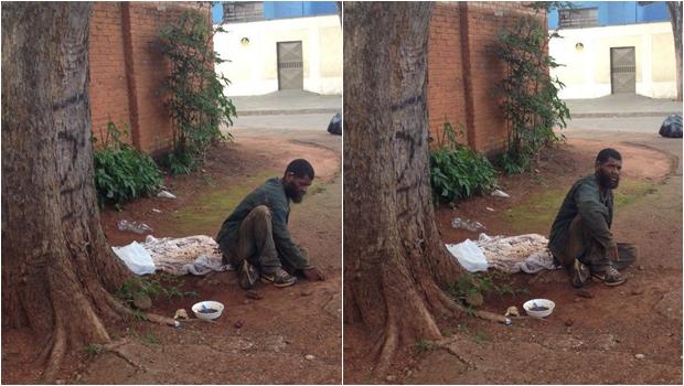 Internauta pede ajuda a homem em situação de rua na capital