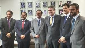 Prefeito eleito em encontro com bancada goiana na Câmara dos Deputados | Foto: Divulgação
