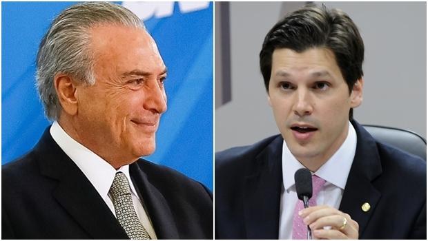 Michel Temer e Daniel Vilela: o presidente deve sancionar projeto do deputado que beneficia empresas de telecomunicações