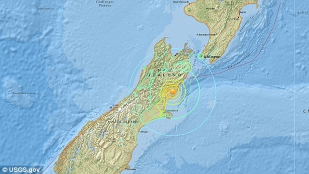 Tremor de 7.8 de magnitude foi registrado a 16km de profundidade | Foto: Reprodução USGS