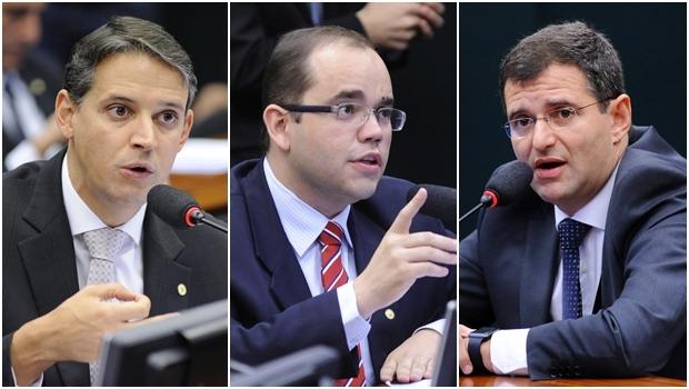 Thiago Peixoto, Fábio Sousa e Marcos Abrão são contrários à proposta | Fotos: Lúcio Bernardo Júnior e Zeca Ribeiro/ Agência Câmara