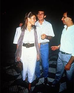 Adriane Yamin e Ayrton Senna | Foto: Arquivo da família