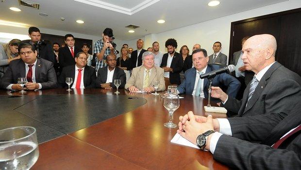 Governador Marconi Perillo e presidente da Coteminas, Pedro Garcia | Foto: Lailson Damásio
