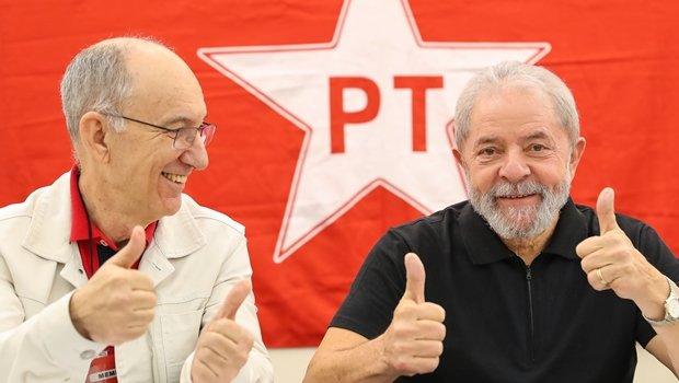 Ex-presidente Lula e o presidente do PT, Rui Falcão, durante reunião no diretorio nacional do partido | Foto: Ricardo Stuckert/ Instituto Lula