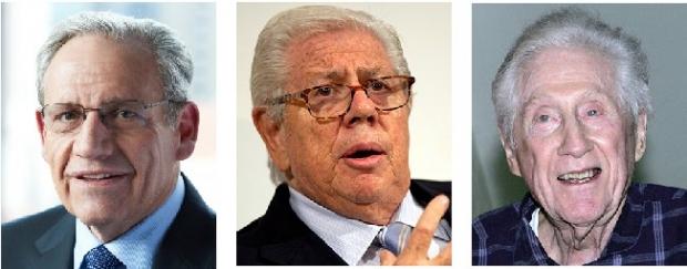 """Bob Woodward e Carl Bernstein: se dependessem de juízes brasileiros, teriam sido obrigados a revelar a identidade de sua principal fonte de informação sobre Watergate, Mark """"Garganta Profunda"""" Felt, diretor do FBI"""