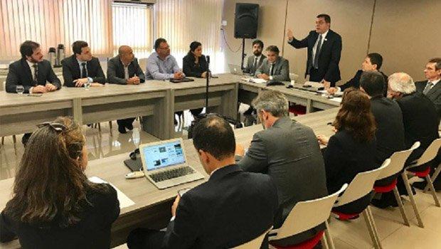 Amastha durante reunião pela revisão do pacto federativo, em Brasília | Divulgação