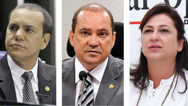 Ataídes Oliveira e Vicentinho Alves votaram favoráveis e Kátia Abreu foi contra a emenda que limita gastos públicos | Foto: Reprodução