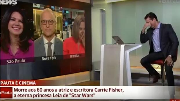 Após muita polêmica, Jorge Pontual pede desculpas por piada com Carrie Fisher