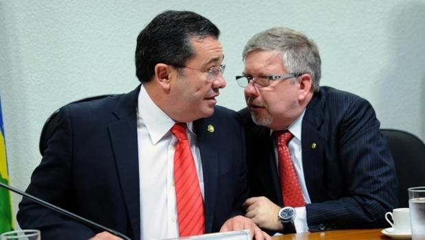Então senador Vital do Rêgo (PMDB-PB) e o deputado Marco Maia (PT-RS) durante oitiva da CPMI da Petrobras, em julho de 2014 | Foto: Foto: Luis Macedo/ Câmara dos Deputados