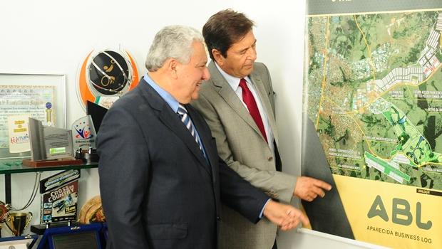 Titular da Secima e prefeito de Aparecida de Goiânia discutem parcerias   Foto: Secima