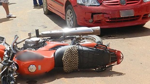 Em Goiânia, motociclista morre após caminhão passar por cima dele
