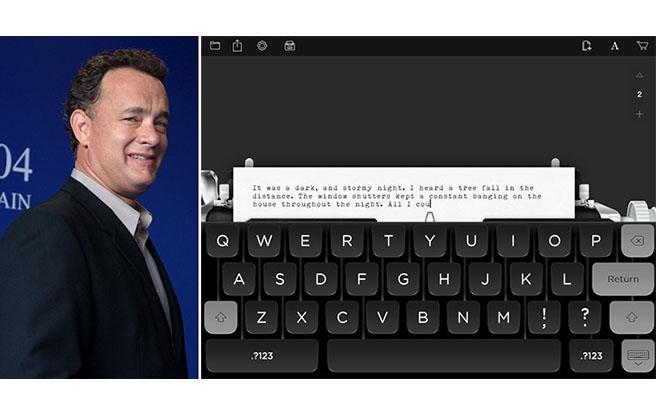 Tom Hanks vai lançar livro de contos para homenagear máquinas de escrever