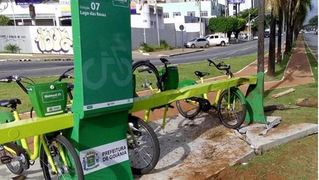 Após acidente, estação de bicicletas públicas ficará indisponível por 15 dias