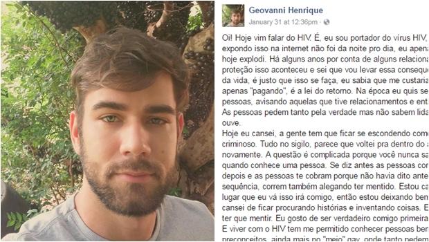Goiano faz relato no Facebook sobre como é viver com HIV e emociona internautas