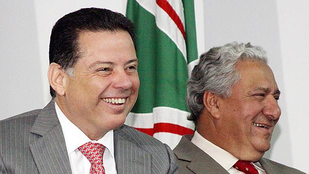 Marconi Perillo e Vilmar Rocha mostram entrosamento total. No governo e para 2018