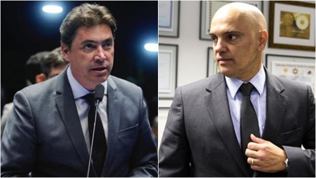"""Senadores fazem """"sabatina informal"""" com Alexandre de Moraes em barco de Wilder Morais"""