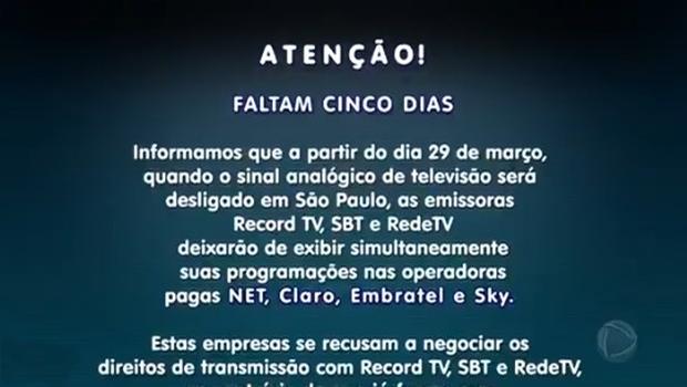 Internautas repercutem saída da Record, SBT e RedeTV! da TV paga