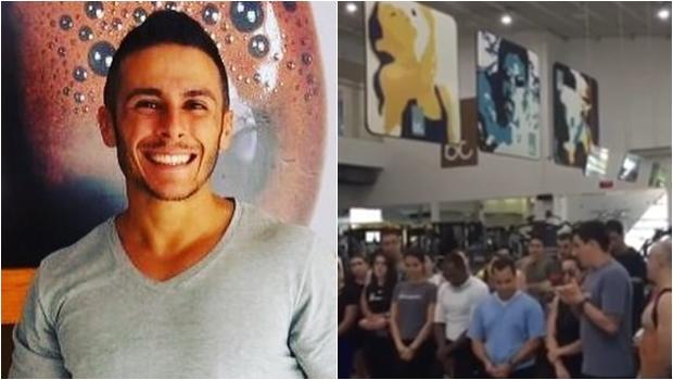 Colegas e alunos fazem homenagem a personal trainer morto em acidente de trânsito
