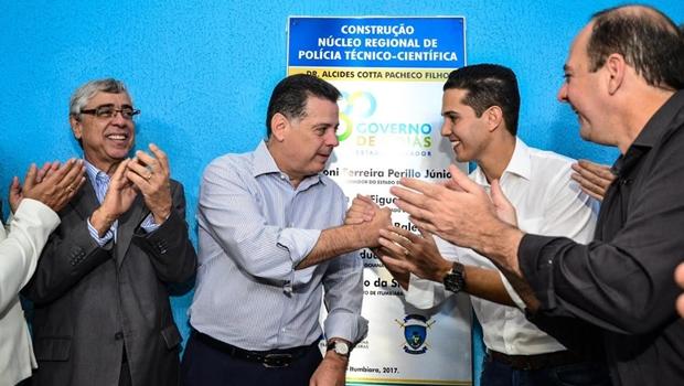 Marconi inaugura IML de Itumbiara e destinaR$ 5 milhões para obras na cidade