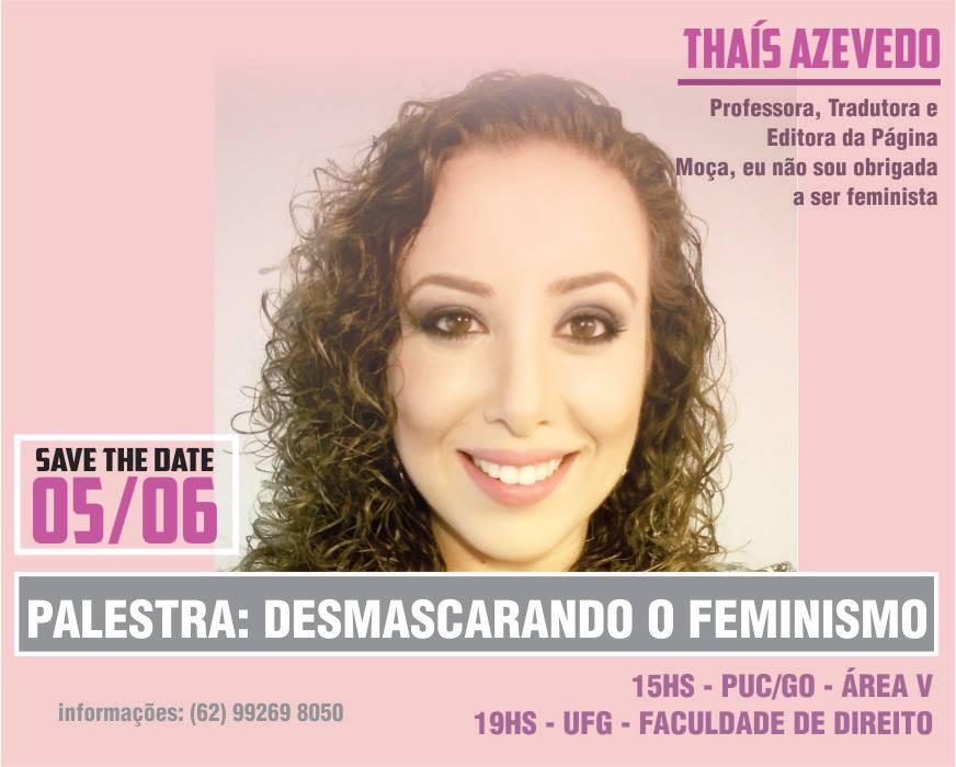 Nota das feministas da UFG sobre Thaís Azevedo é uma piada stalinista de mau gosto