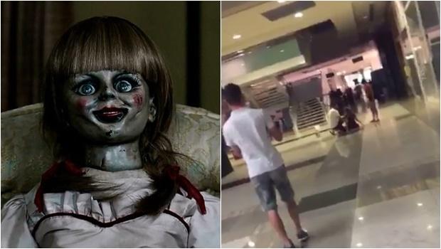 """Jovem tem surto após assistir """"Annabelle 2"""" no cinema. Assista ao vídeo chocante"""